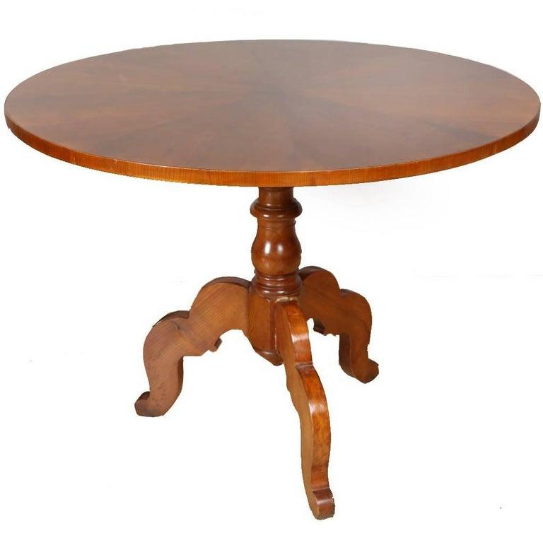 Biedermeier Round Table, circa 1850