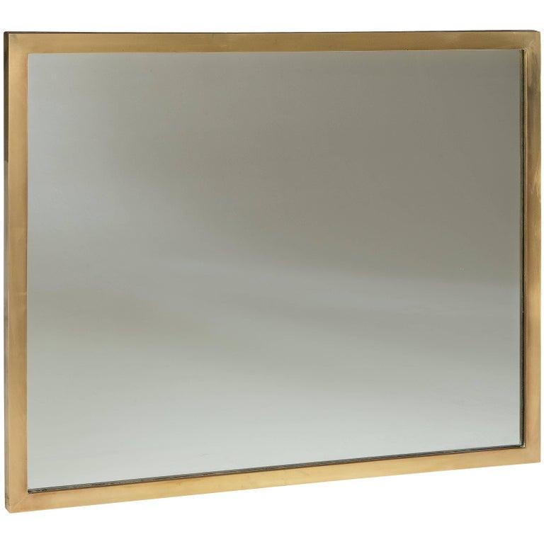 Modern Brass Frame with Mirror