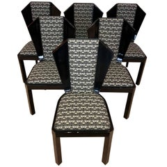 Set of Six Art Deco Chairs, France, circa 1930