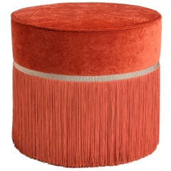 Couture Orange Pouf
