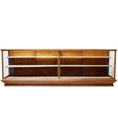 Early 20th Century Large Oak Haberdashery Display Cabinet