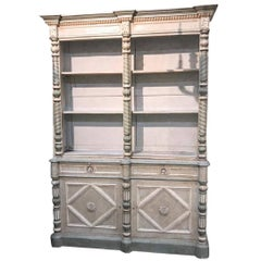 19th Century French Painted Display Cabinet