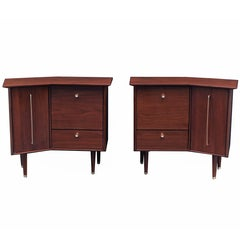 Pair of Modernist Bedside Cabinets