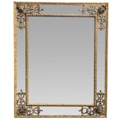 18th Century French Regence Giltwood Mirror, circa 1750
