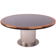 Granite and Steel Yacht Style Dining Table