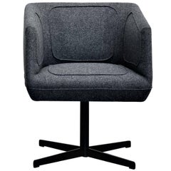 Dressed Black Swivel Chair by Luca Nichetto