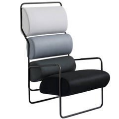 Sancarlo Armchair in Black and White by Achille Castiglioni