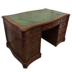 19th Century Chippendale Style Mahogany Kneehole Desk