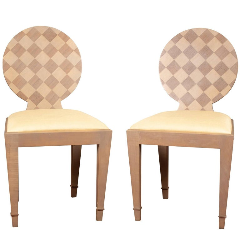 """Pair of Donghia """"Paris"""" Side Chairs"""