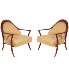 Pair of Curvaceous Lounge Chairs by T.H. Robsjohn-Gibbings