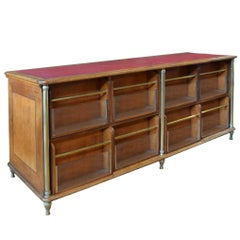 French Candy Shop Display Counter with Leather Top