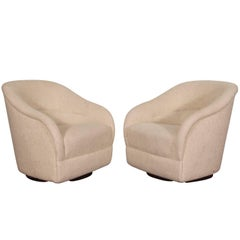 Pair of Swivel Club Chairs