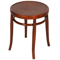 Early 20th Century Round Bentwood Coffee Table by Thonet Polished to Wax