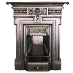 Antique Late Victorian Cast Iron Combination Fireplace
