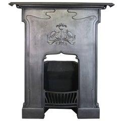 Restored Edwardian Art Nouveau Cast Iron Combination Grate