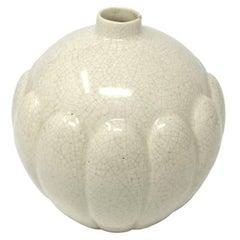 Art Deco French Craquelè Vase, 1930s