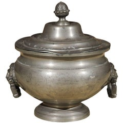 19th Century Covered Pewter Tureen, circa 1820