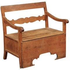Metamorphic 19th Century Swedish Pine Bench