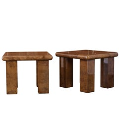 Pair of Goatskin Side Tables