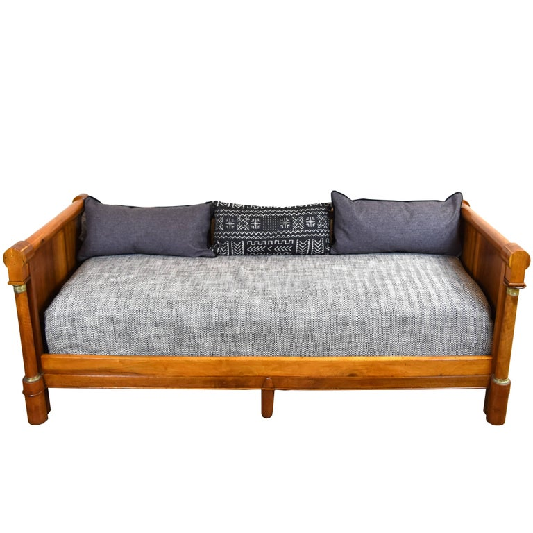 19th Century Empire Style Walnut Daybed