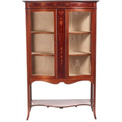 Quality Edwardian Inlaid Mahogany Display Cabinet