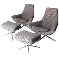 "Pair of Armchairs ""Metropolitan"" Designed by Jeffrey Bernett, Italy, 2002"