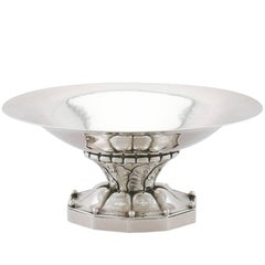 Antique Danish Sterling Silver Bon Bon Dish, 1927