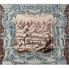 18th Century Azulejos Hunting Scene
