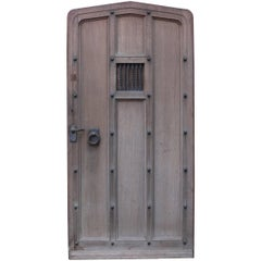 English Oak Arched and Studded Exterior / Front Door