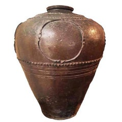 Large Terracotta Vase or Jar from India