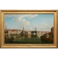 View of the Thames, Temple Stairs and Old Savoy by Samuel Scott