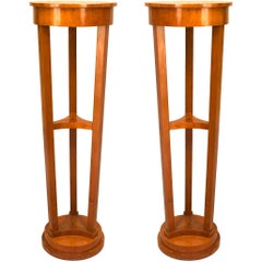 Pair of Austrian Biedermeier Style '19th Century' Maple Pedestals