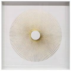 Radiant Gold Leafed Handmade Artwork on Cotton Rag Paper, Wall Hung Art