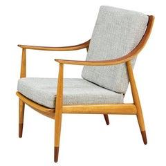 Peter Hvidt & Orla Mølgaard-Nielsen Model FD-145 Lounge Chair for France & Daver