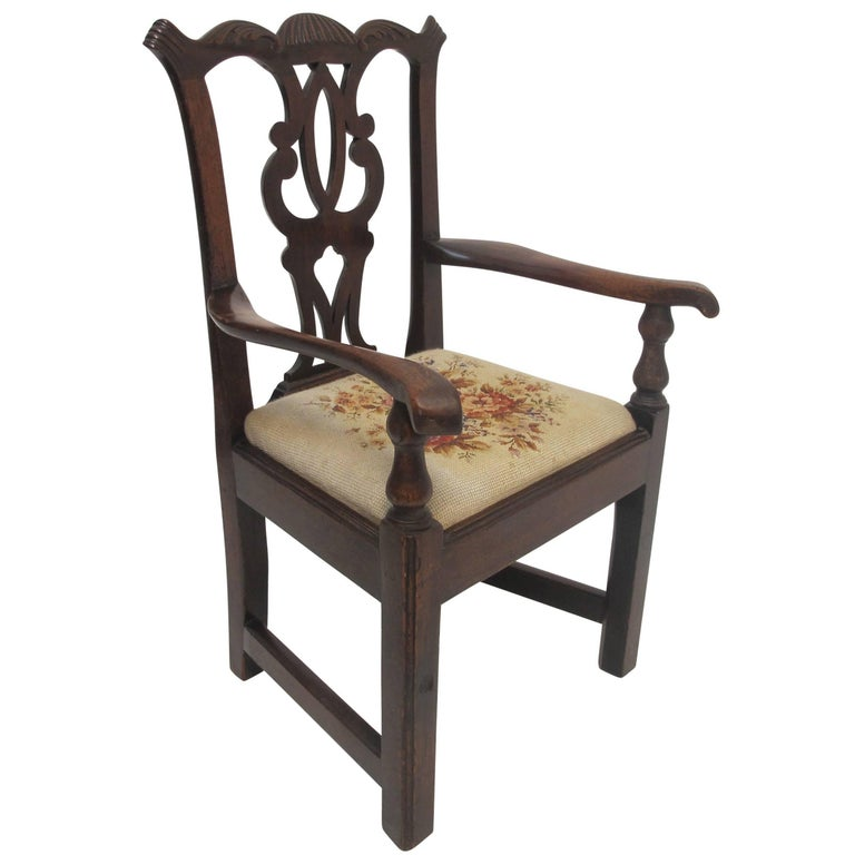Mahogany Chippendale Child's Chair Apprentice Sample, English, 19th Century