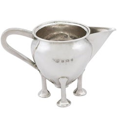 1905 Antique Arts & Crafts Style Sterling Silver Cream Jug