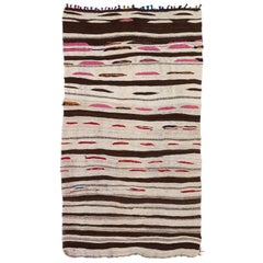 Vintage Moroccan Berber Kilim with Stripes