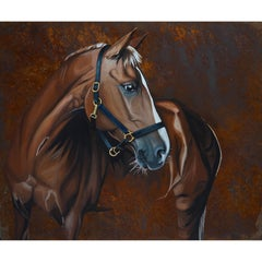 Horse, Painted on rusted cold steel.
