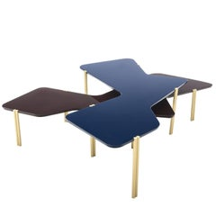 Black and Blue Jean Stackable Tables