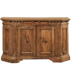 18th Century Italian Lovely Sideboard Console of Nicely Carved Walnut Wood