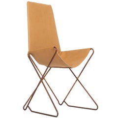 Prototype Steel and Leather 'Throne' Sling Chair by Arturo Pani