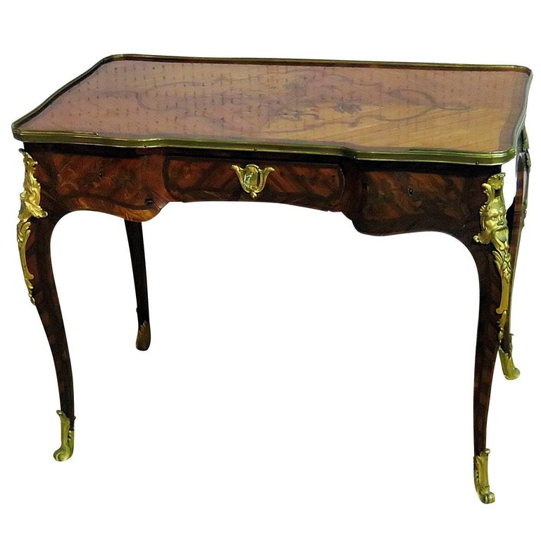 19th Century Inlaid Bureau Plat