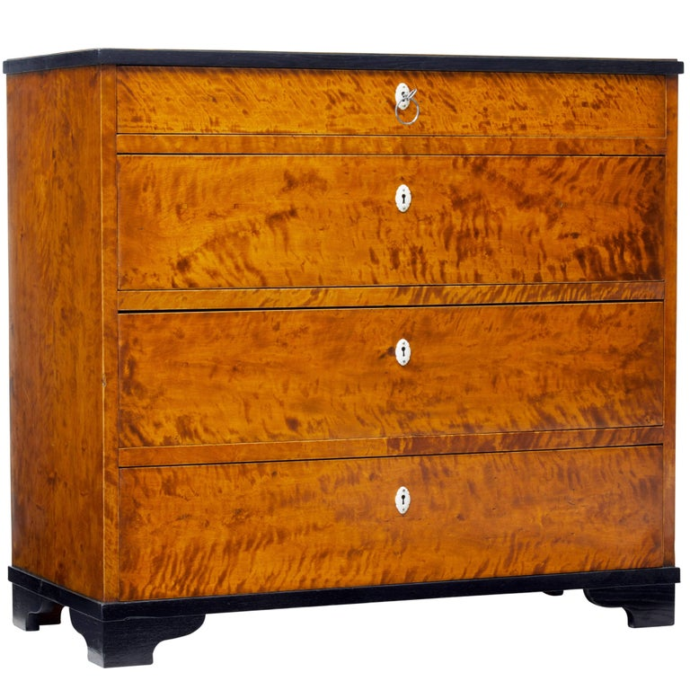Late 19th Century Swedish Birch Chest of Drawers
