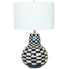 "Vintage Italian ""Checkerboard"" Ceramic Table Lamp, circa 1975"