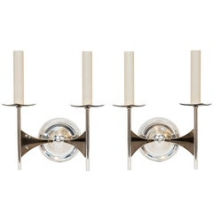 Pair of Modernist Wall Sconces Attributed to Tommi Parzinger