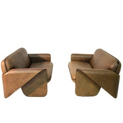 Vintage Swiss De Sede DS 125 Sofas Designed by Gerd Lange, 1978