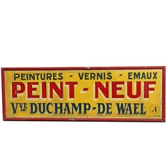 1950s French Advertising Peint Neuf Sign