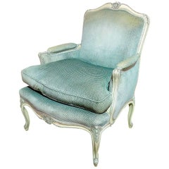 Louis XV Style Paint Decorated Bergere