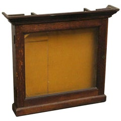 1930s French Oak Display Case