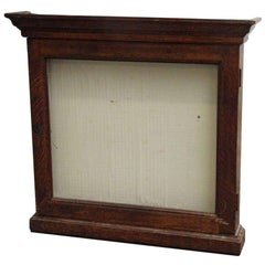 1940s French Oak Display Case with Key